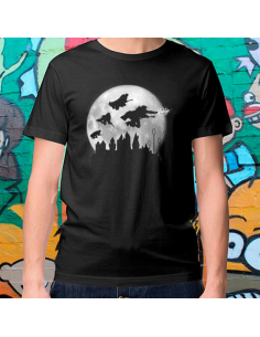 Camiseta Moon over Hogwarts  - Crea tu camiseta