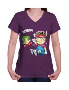 Camiseta mujer Arale y Gatchan - Dr. Slump