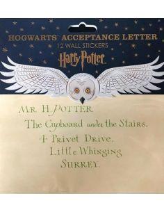 Pack de 12 Pegatinas Réplicas Carta Hogwarts - Harry Potter