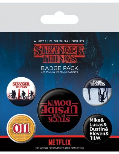 Pack de chapas Upside Down - Stranger Things