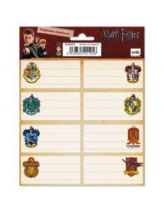 Etiquetas adhesivas Casas Hogwarts - Harry Potter