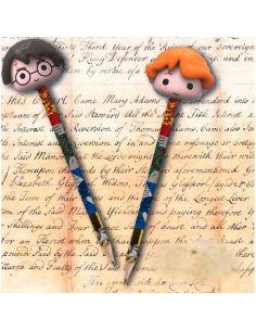 Pack de 2 lápices de Harry Potter y Ron Weasley con goma 3D