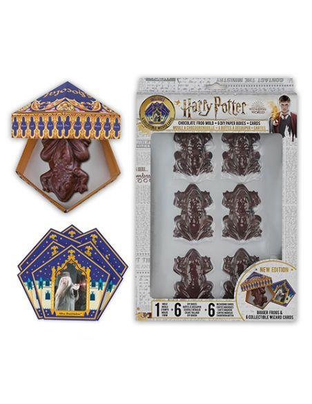 Kit Molde Rana de Chocolate + Cajas + Cromos - Harry Potter