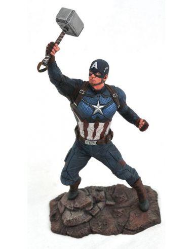Figura Capitán América con Mjolnir - Marvel Gallery - Marvel