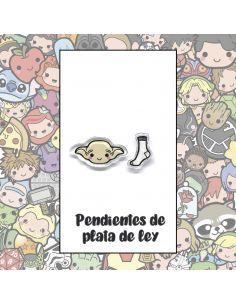 Pendientes Plata - Elfo doméstico y Calcetín - Joyería Artesanal