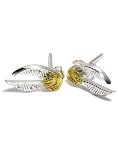 Pendientes Snitch Dorada Plata de Ley - Harry Potter