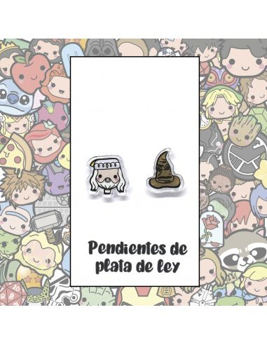 Pendientes Plata - Director y Sombrero Parlante - Joyería Artesanal