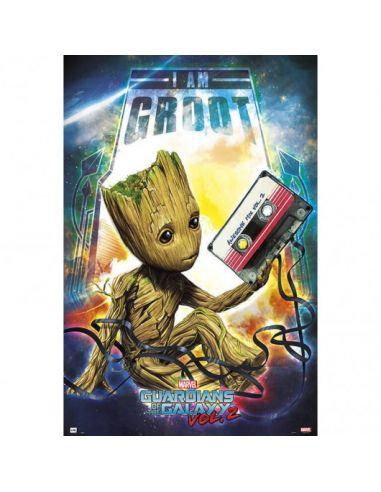 Póster Groot - Guardianes de la Galaxia