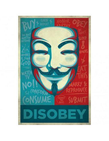 Poster Disobey V De Vendetta