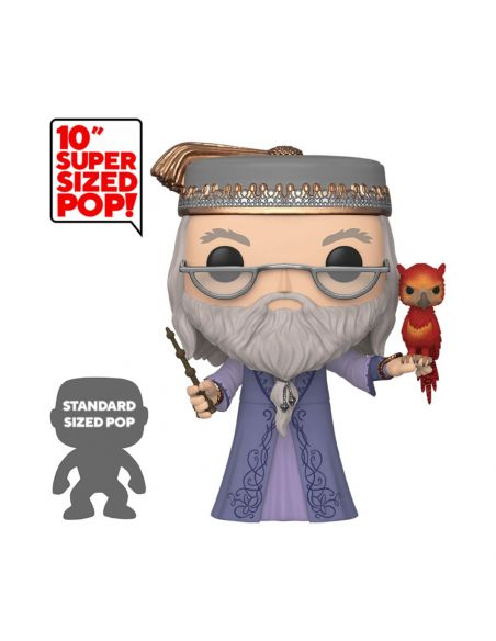 Funko Pop! Albus Dumbledore y Fawkes 25 cm - Super Sized - Harry Potter