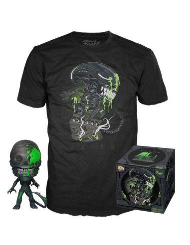 Funko  POP! & Tee Set Figura y Camiseta 40th Xenomorph - Alien