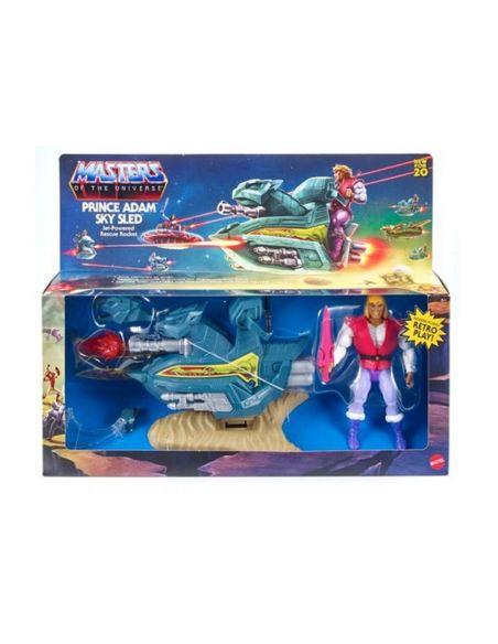 Figura Príncipe Adam y Aerodeslizador - Masters del Universo Origins