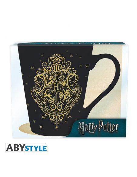 Taza escudo Hogwarts Dorado - Harry Potter