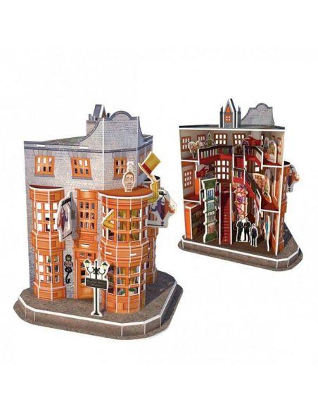 Puzzle 3D Tienda gemelos Weasley 62 pcs - Harry Potter