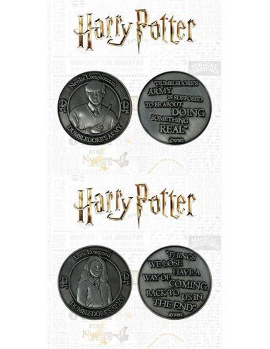 Pack Monedas Neville y Luna Lovegood - Edición Limitada - Harry Potter