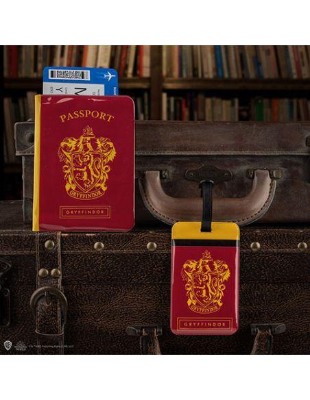Porta pasaporte y Etiqueta para equipaje Gryffindor - Harry Potter