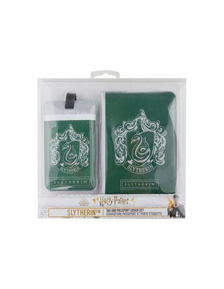 Porta pasaporte y Etiqueta para equipaje Slytherin - Harry Potter