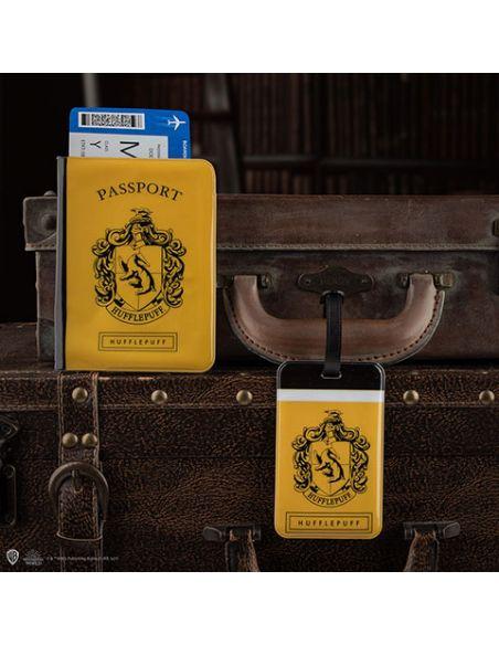 Porta pasaporte y Etiqueta para equipaje Hufflepuff - Harry Potter