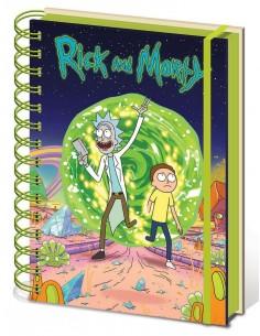 Libreta A5 Portal - Rick y Morty