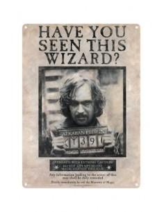 Placa de Metal Sirius Black - Harry Potter