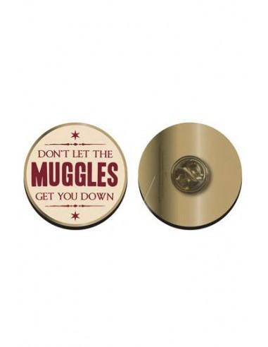 "Pin ""No dejes que los Muggles te depriman"" - Harry Potter"