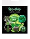 Pack 6 Chapas Pickle Rick - Rick y Morty