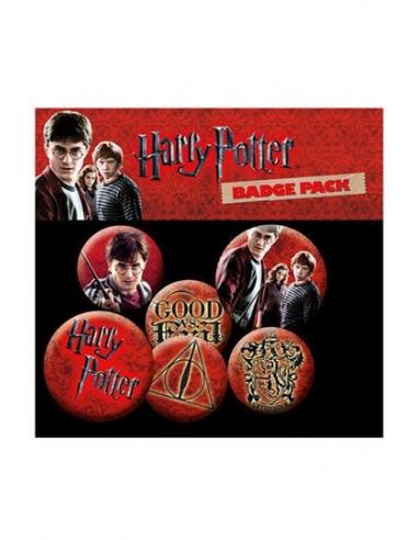 Pack 6 Chapas Iconos - Harry Potter