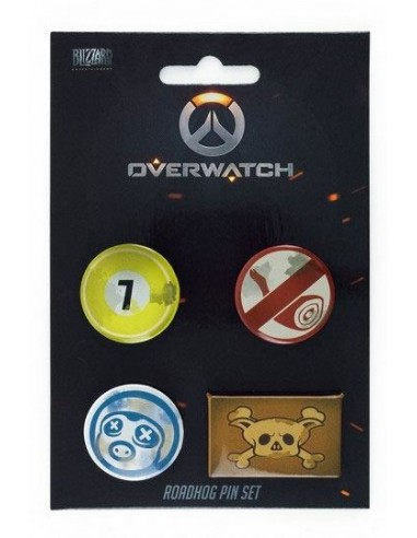 Pack de 4 Chapas Roadhog - Overwatch