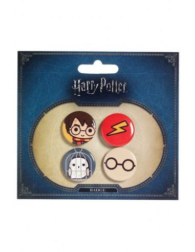 Pack 4 Chapas Cutie - Harry Potter