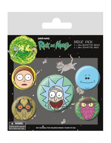 Pack 5 Chapas Rick y Morty