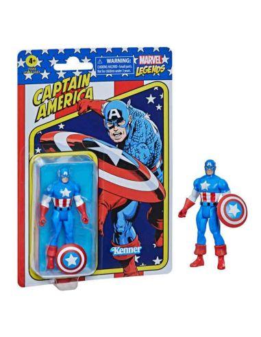 Figura Capitán América 9,5 cm Marvel Legends Retro - Marvel