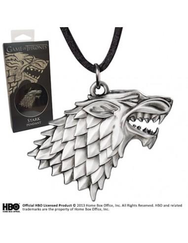 Colgante Casa Stark escudo Lobo Huargo - Juego de Tronos