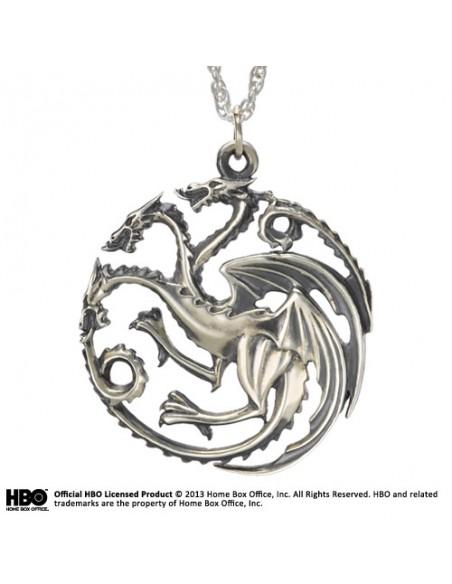 Colgante Targaryen en Plata - Juego de Tronos