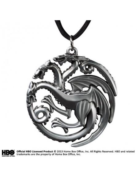 Colgante Casa Targaryen escudo Dragón Tricéfalo - Juego de Tronos