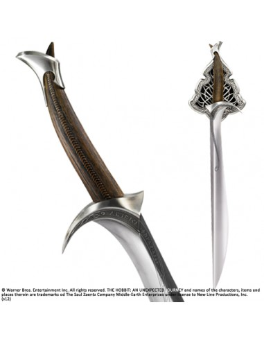 "Espada Thorin Escudo de Roble ""Orcrist "" escala 1:1 - El Hobbit"