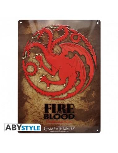 Placa metálica Targaryen - Juego de Tronos