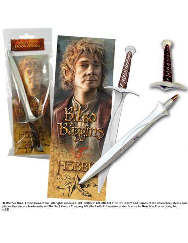 Punto de libro Bilbo Bolsón y Bolígrafo espada Dardo - El Hobbit