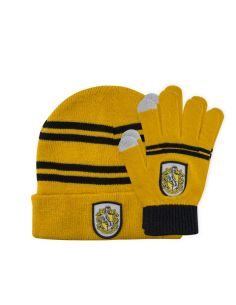 Pack Infantil Guantes táctiles y Gorro Hufflepuff - Harry Potter