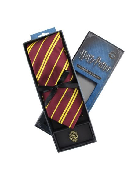 Corbata Deluxe Gryffindor con Pin - Harry Potter