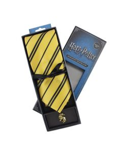 Corbata Deluxe Hufflepuff con Pin - Harry Potter
