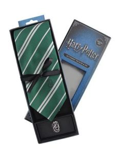 Corbata Deluxe Slytherin con Pin - Harry Potter