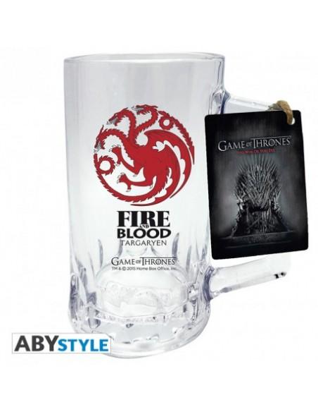Jarra de Cerveza escudo Targaryen - Juego de Tronos