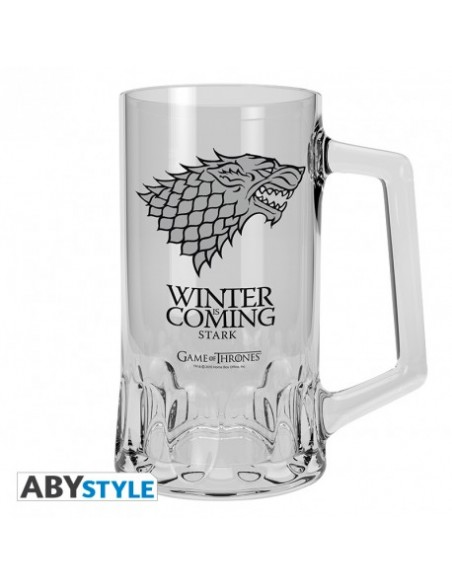 Jarra de Cerveza escudo Stark - Juego de Tronos
