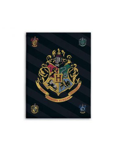 Manta escudos Hogwarts 100 x 140 cm - Harry Potter