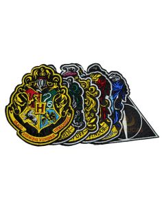 Pack de parches Escudos de Hogwarts Bordados - Harry Potter