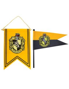 Banderín y estandarte Hufflepuff - Harry Potter