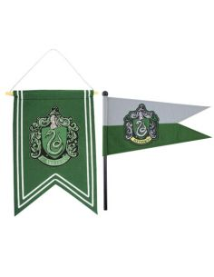 Banderín y estandarte Slytherin - Harry Potter