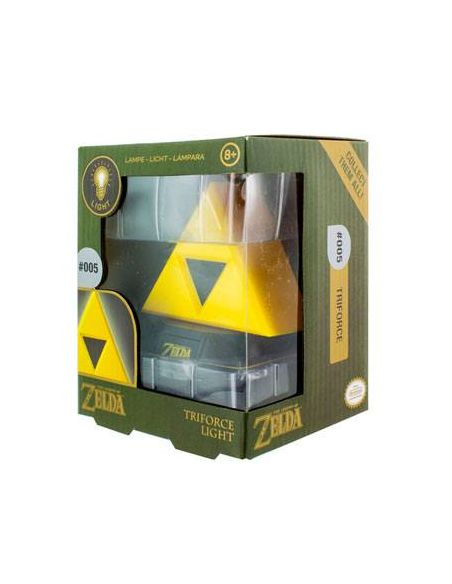 Mini Lámpara Trifuerza 3D - Legend of Zelda