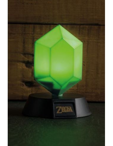 Lámpara 3D Green Rupee - Legend of Zelda