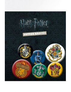 Pack 6 Chapas Escudos - Harry Potter